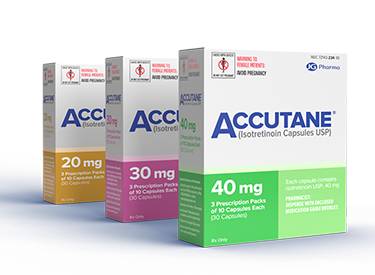 Accutane packing in three available strengths